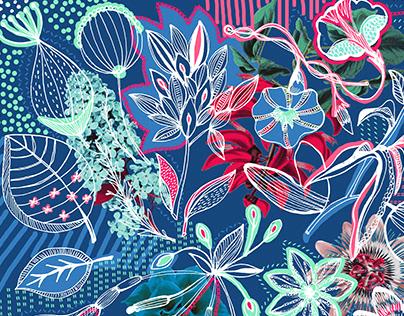 Pañuelo - Flores Argentinas