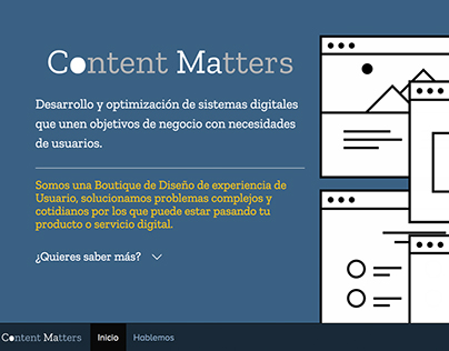 ContentMatters Boutique Diseño UX website