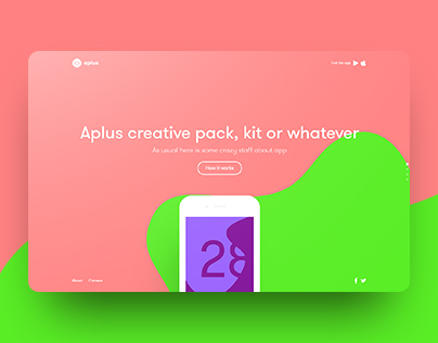 Aplus - Free template with creator