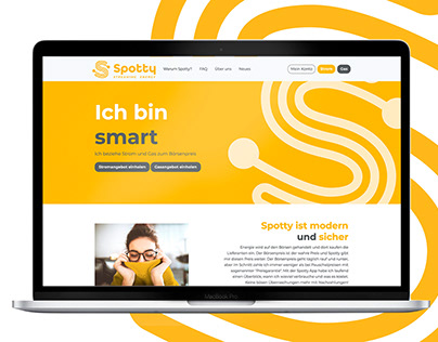 Brand design and UI for energy streaming startup Spotty