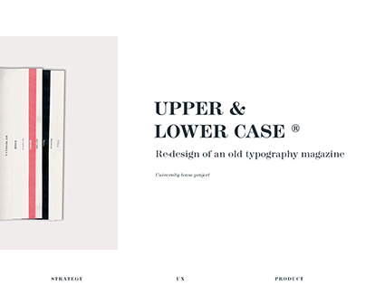 U&lc - Redesign of an old typography magazine