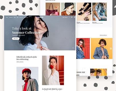 Modern & Minimal Ecommerce website development