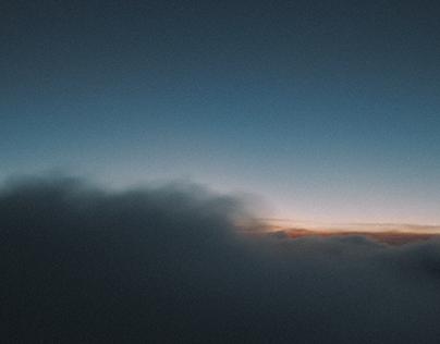 nuvens da janela