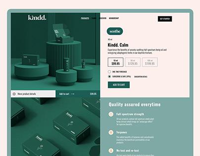 Kindd CBD web design (London)