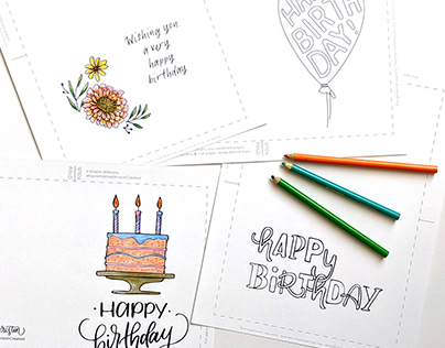 Coloring Book Greeting Cards