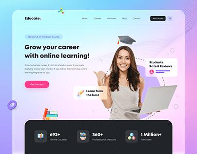 Online eLearning Web App Design