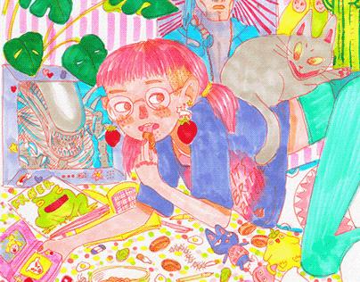 Selfportrait - Illustration