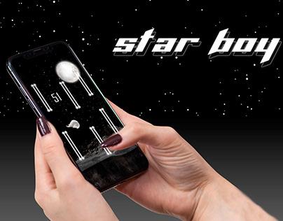 Star Boy - the mobile application design.