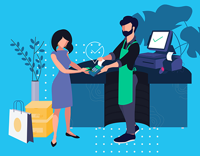 Marketing illustration for a SAAS company