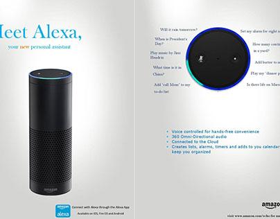 Amazon Echo Ad & Invitation