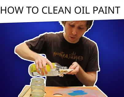 How to clean oil paint from a brush or a palette