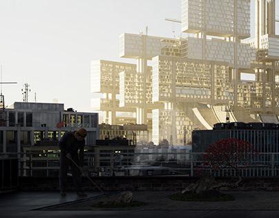 Kenzo Tange Tsukiji renovation.