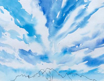 玉山群峰 Yushan Peaks | sketch 2020