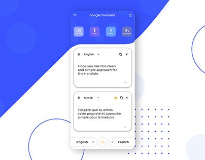 Google Translate Redesign Challenge