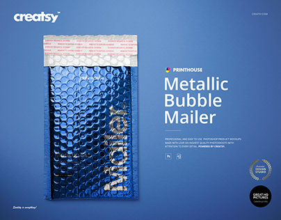Metallic Bubble Mailer Mockup Set