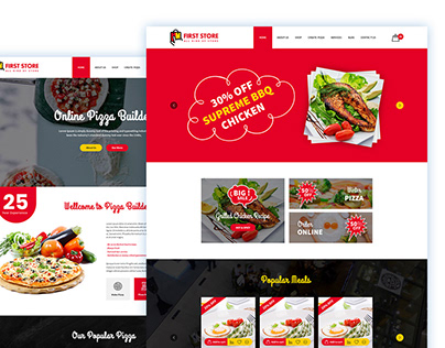 Pizza Builder PSD Template