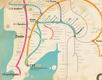 Stylised Mumbai Rail Maps