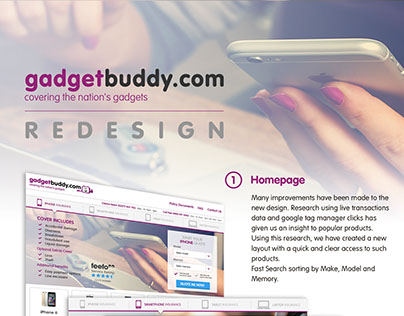 Gadgetbuddy Redesign