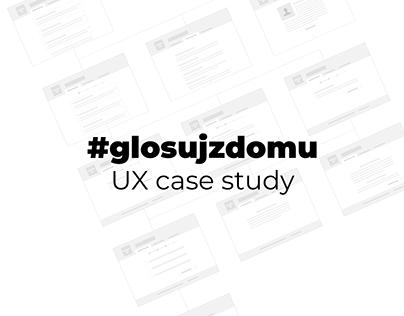 #glosujzdomu UX case study in Polish