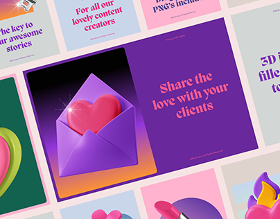 3D Icons Pack - Romance