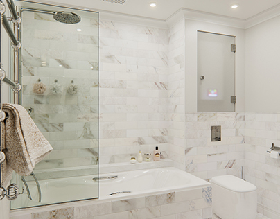 Ванная, квартира в Москве