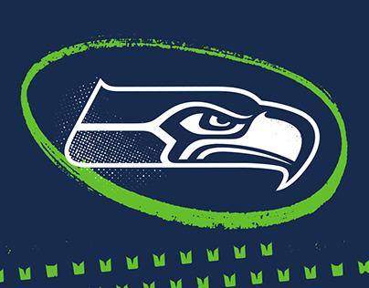 2018 Seattle Seahawks Social Media Design
