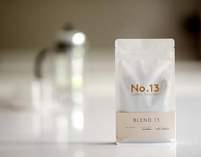 No.13 Coffee Logo & Packaging