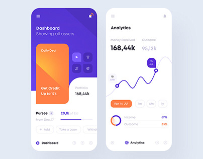 Financial app interface