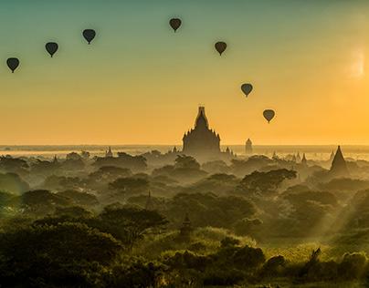 Foggy Morning in Bagan