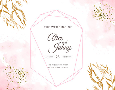 Elegant pinky Wedding Cards collection