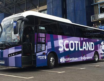 Scotland Rugby Team Bus