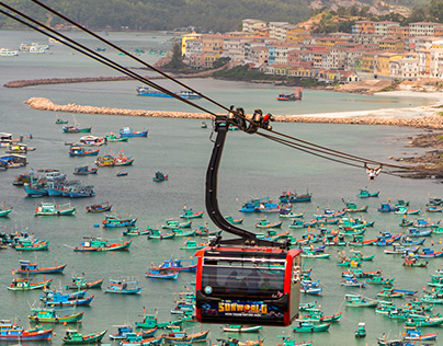 Cable car in Phu Quoc island