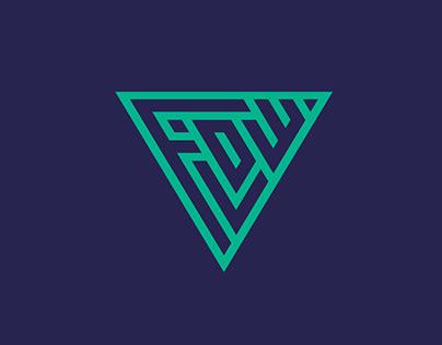 Logo design process for Flow Kite School Sicily