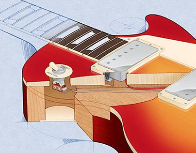 Electric Guitar Cutaway