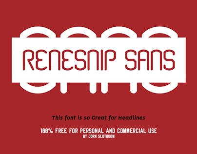 Free Font Renesnip Sans