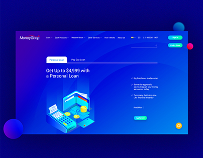 MoneyShop Website Design