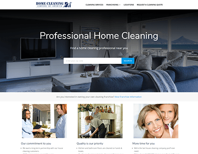 Home Cleaning Centers website