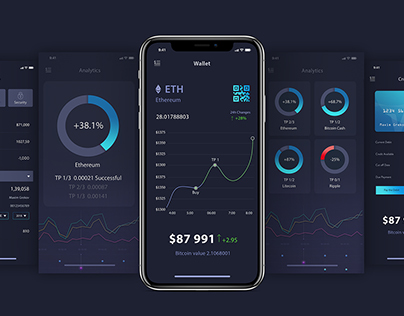 Stock exchange—Bitcoin UI Kit for Cryptocurrency Vol 01