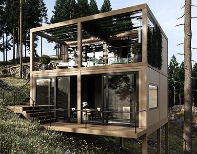 Stunning Modern Forest Cabin, Zieleniec, Poland