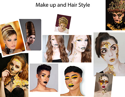 Honey comb make up & hair style board
