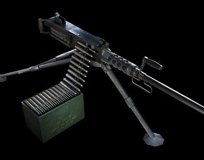 Browning M2 Low poly