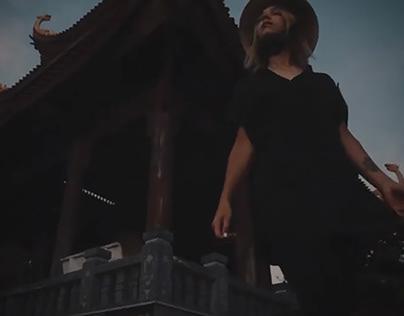 Video. Dawn in a Buddhist temple. Phu Quoc Island