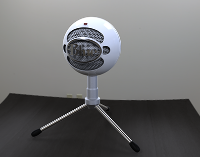 Blue Snowball - KeyShot