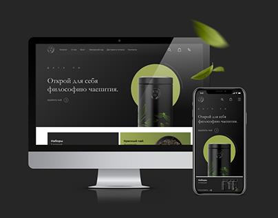 UI/UX design tea store