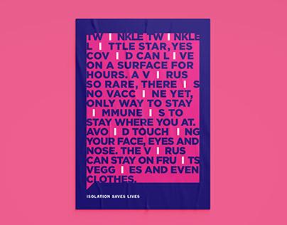 Isolation saves lives//Poster Design