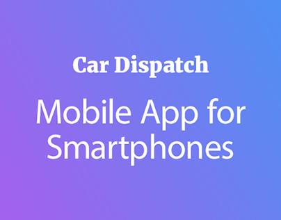 Car Dispatch App UI Design