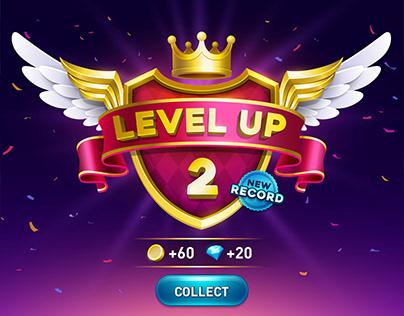 Level up game UI