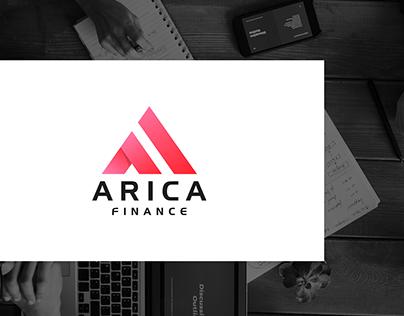 Arica Finance - Modern Letter logo Design