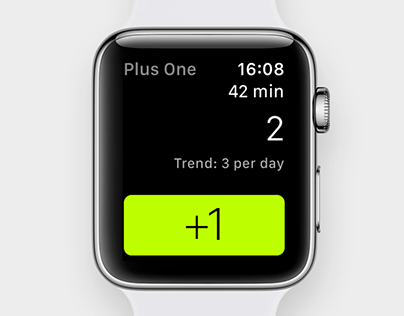 Plus One habit + addiction tracker for iOS and watchOS