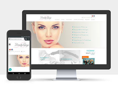 Webdesign - Beauty Lounge